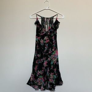 Betsy Johnson Sheer Floral Dress L